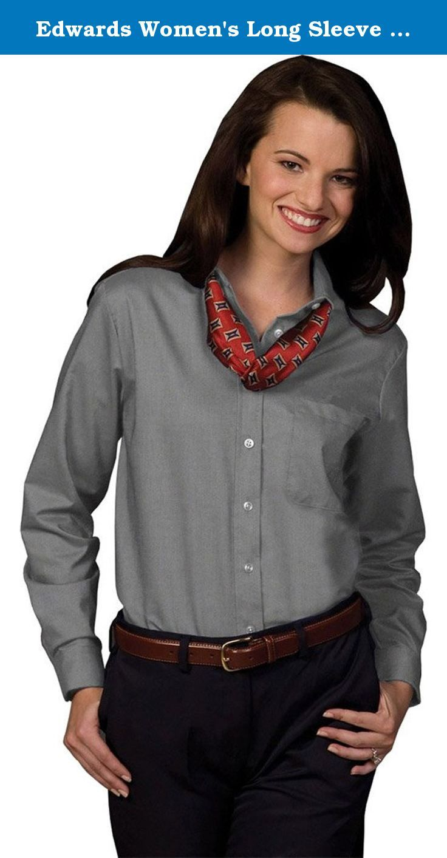 Edwards Women S Long Sleeve Dress Button Down Oxford Black 2xlarge Easy Care Long Sleeve Oxford Dres Women Long Sleeve Dress Ladies Tops Fashion Long Sleeve [ 1413 x 736 Pixel ]