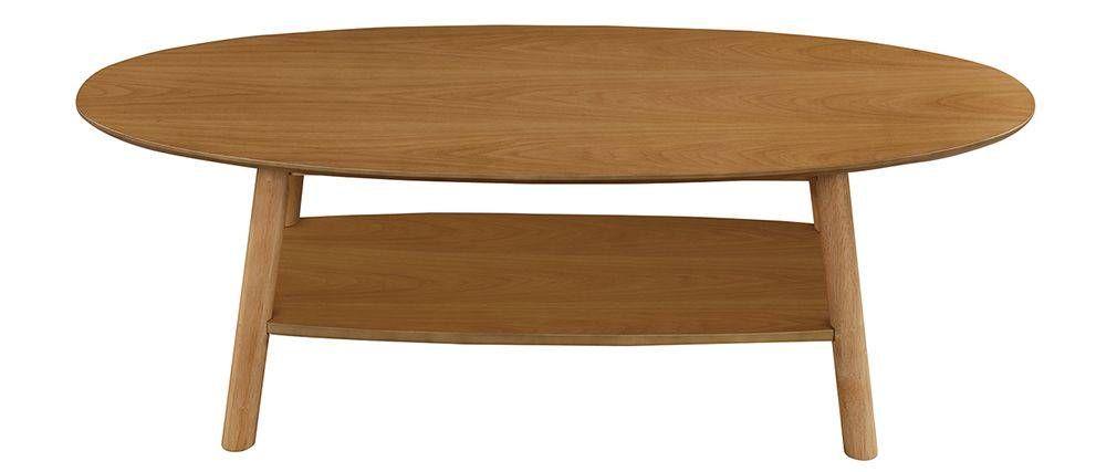 Table Basse Design Bois Ovale Yoko Table Basse Design Bois