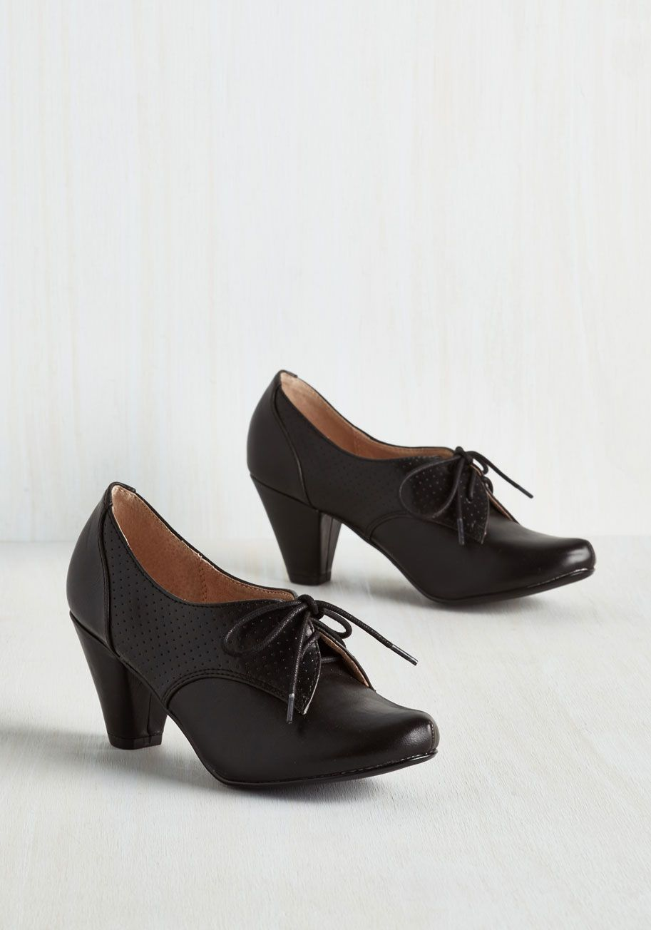 70fad30371a Swing Along Heel in Noir. Cut a rug to your favorite jazz tunes in these black  heels by Chelsea Crew.  black  modcloth