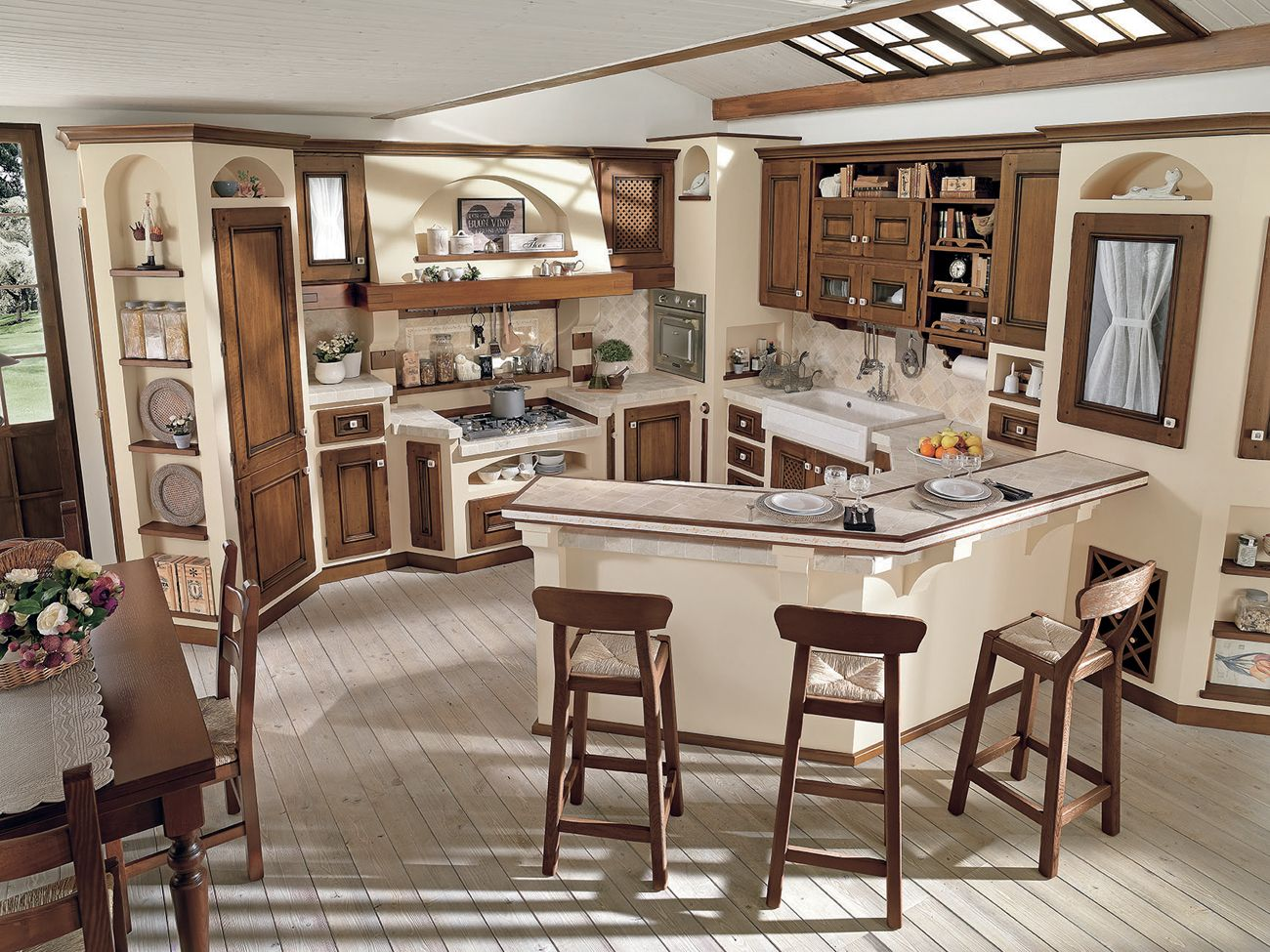 Foto delle cucine in muratura moderne e personalizzabili for Decorazioni cucine moderne