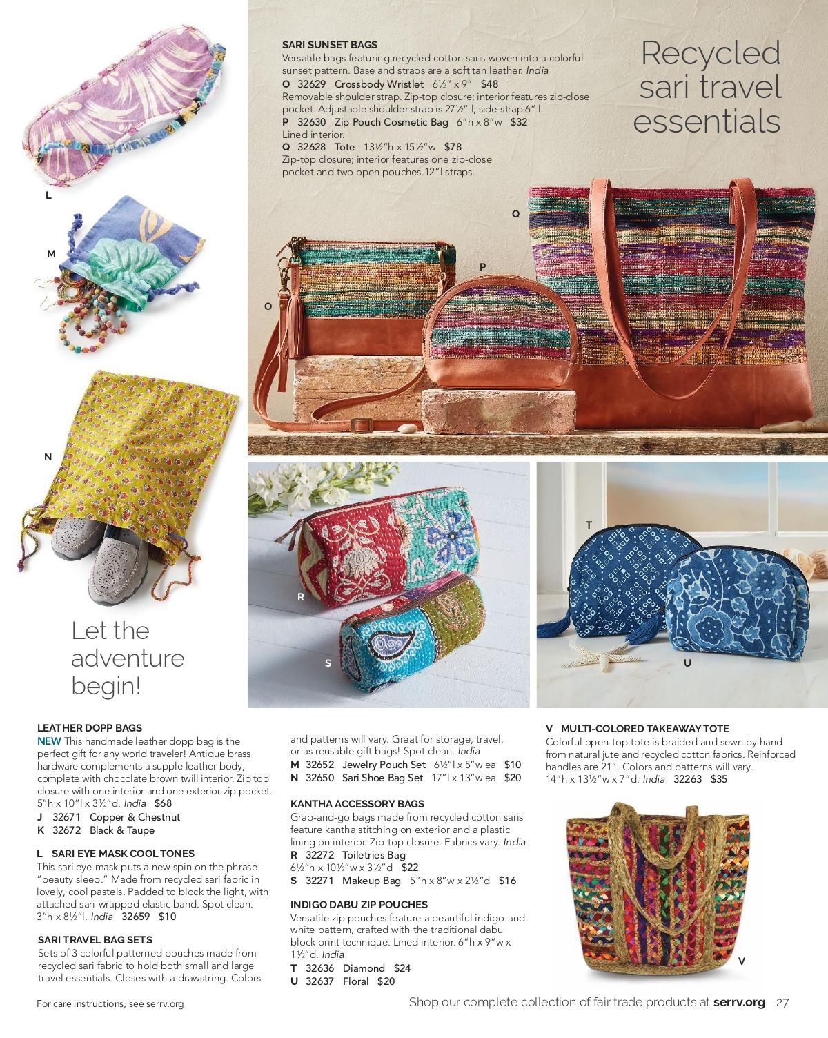 Serrv Spring 2020 Versatile Bag Spring Cosmetic Bag