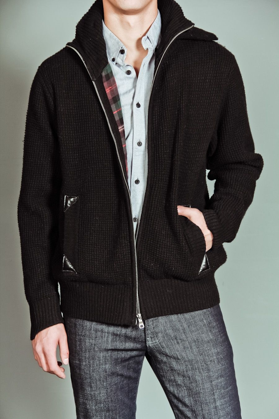 A part of me, loves the plaid lining. WHITE PICKET FENCE CARDIGAN ...