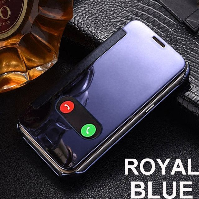 For iPhone 6s Case Mirror Case Window View For iPhone 6 6s Plus 7 Plus PU Leather PC Cover For iPhone 6 7 Fundas Flip Capa