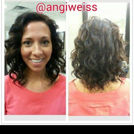 Color & cut by Angi Weiss at Attitudes in Monroe, MI. 734-846-2530. The Sexy  Hair Curly cut...when you can tame those curls to lady down! #curly #hair #perfection @Sexy Hair