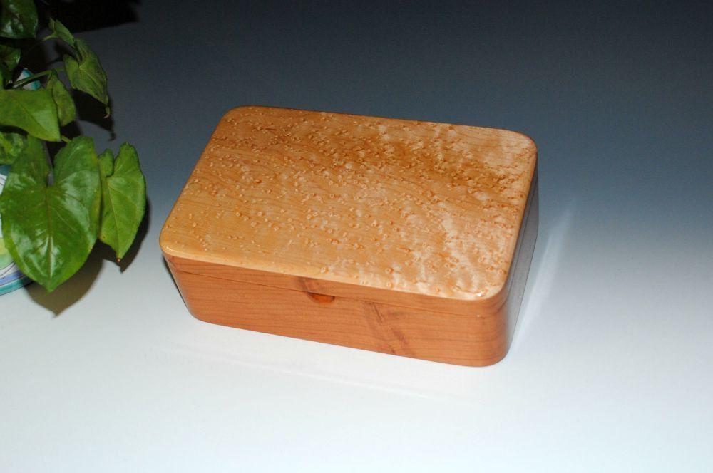 Handmade Cherry Wood Stash Box Wood Jewelry Box Wood Treasure Box