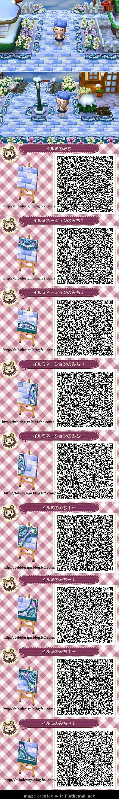 Animal crossing new leaf qr code acnl winter path qr Boden qr codes animal crossing new leaf