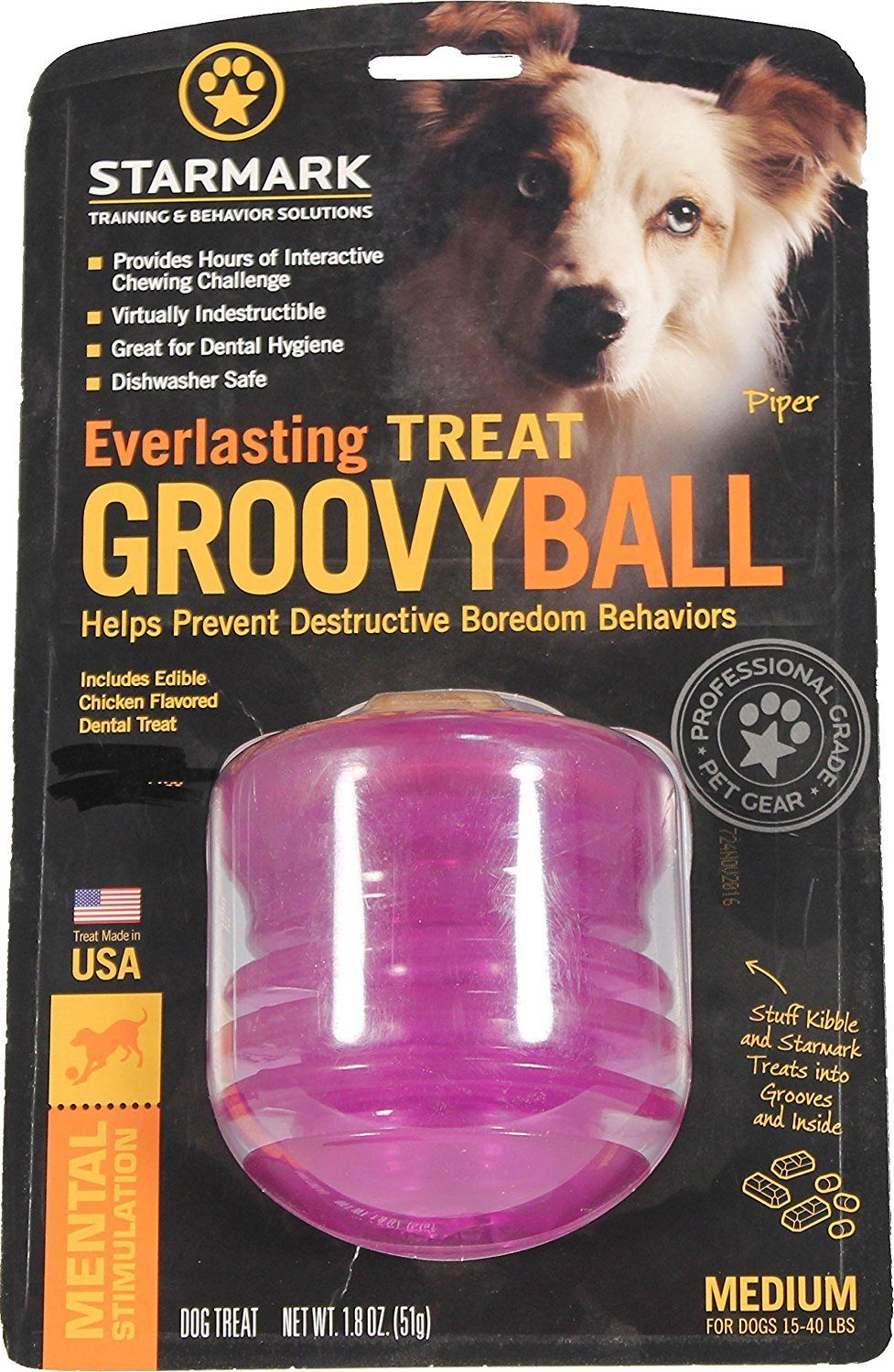 Starmark Smgbpm Dog Everlasting Treat Groovy Ball Dog Diapers