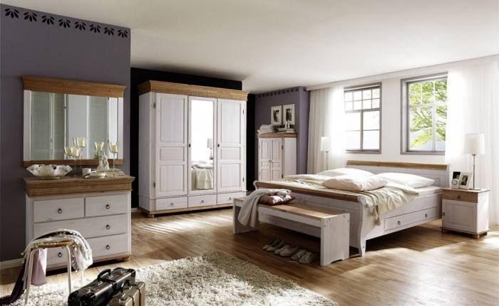 Schlafzimmer Holz Komplett Wohnen, Möbel landhausstil