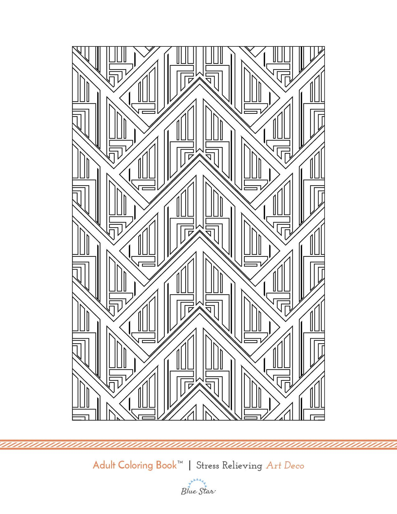 Love Art Deco Try This Free Adult Coloring Book Page From