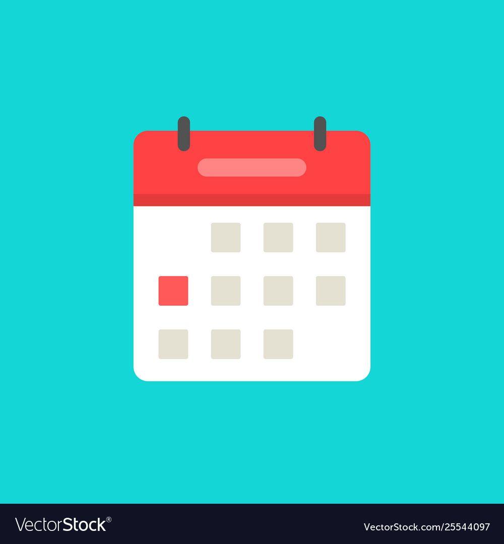 Calendar or agenda icon flat cartoon royalty free vector