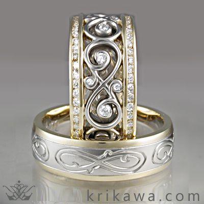 Infinity symbol wedding bands Weddings Room