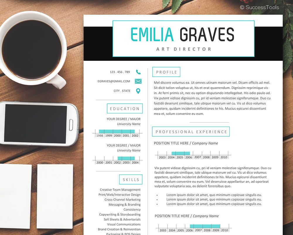 Classy Resume Template Instant Download Professional Resume