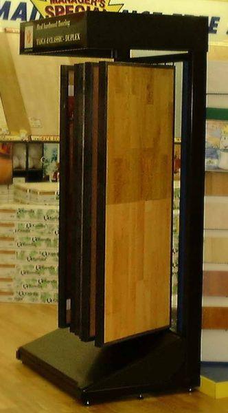 Wing Rack Display Stand For Hardwood Flooring Tile Samples Victor