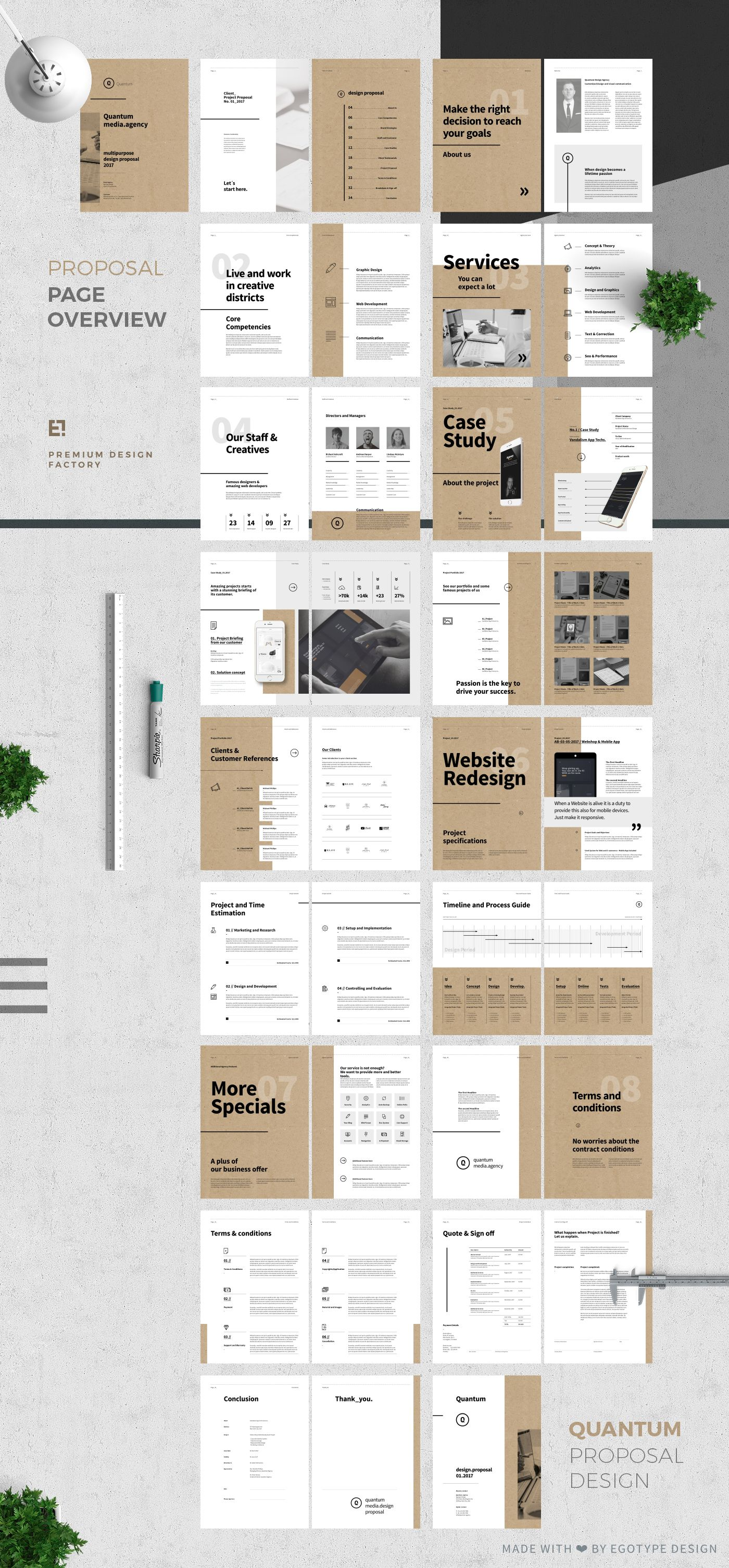 proposal and portfolio templateminimal and professional proposal
