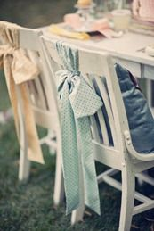 lovely for a bridal shower. Could buy cheap fabrics at fabric store to match color of wedding