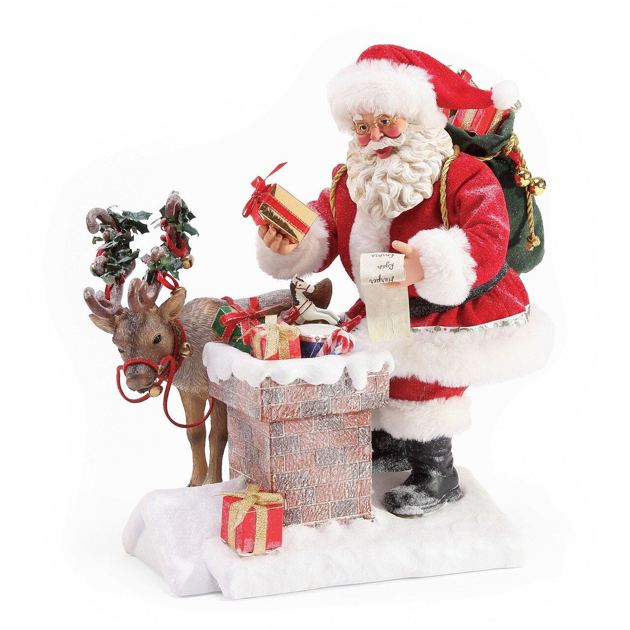 Department 56 Possible Dreams Rooftop Magic Santa Figure 6003843 Reindeer Christmas Present Magic Santa Unique Christmas Decorations