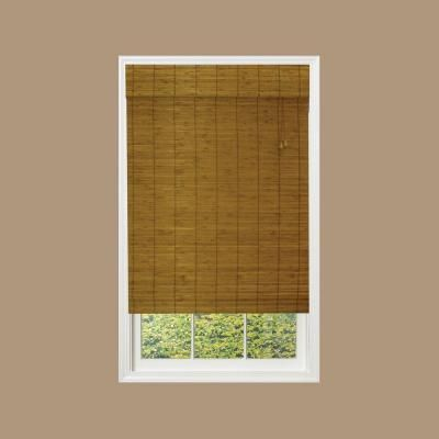 Designview Fruitwood Mirada Flatstick Bamboo Roman Shade Price Varies By Size  212016 At The Home Depot 48