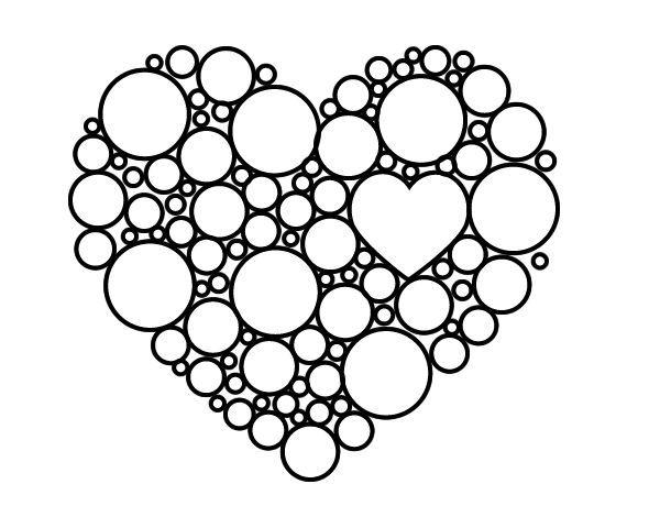 mandalas corazones para imprimir - Buscar con Google | coloring ...