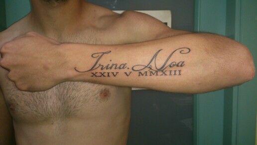 Nombres Y Fecha El El Antebrazo Tattoo Quotes Tatto Tattoos