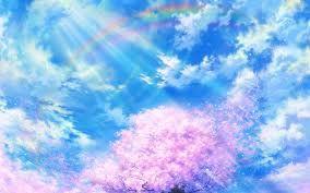 Сакура под облаками, обои