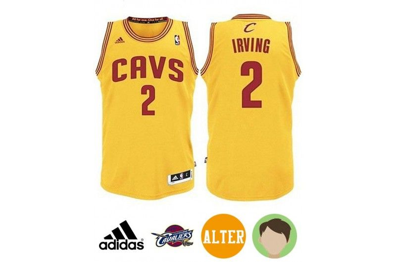Kyrie Irving Youth Cleveland Cavaliers CAVS Revolution 30 Swingman  Alternate Gold Jersey 0dadd09af