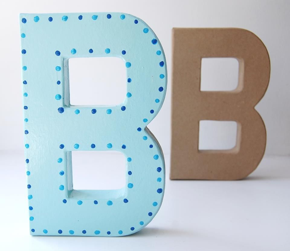 Paint your own Mr and Mrs or first name over your top table in your wedding colour theme.  These 20cm high letters will make great wedding decor items .... very easy to paint.