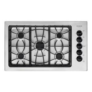 frigidaire gallery 36 in gas cooktop in stainless steel with 5 at