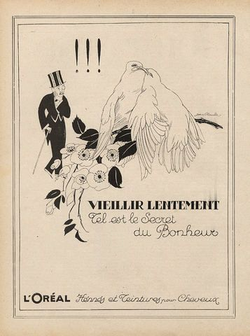 1920s l'oréal ad.