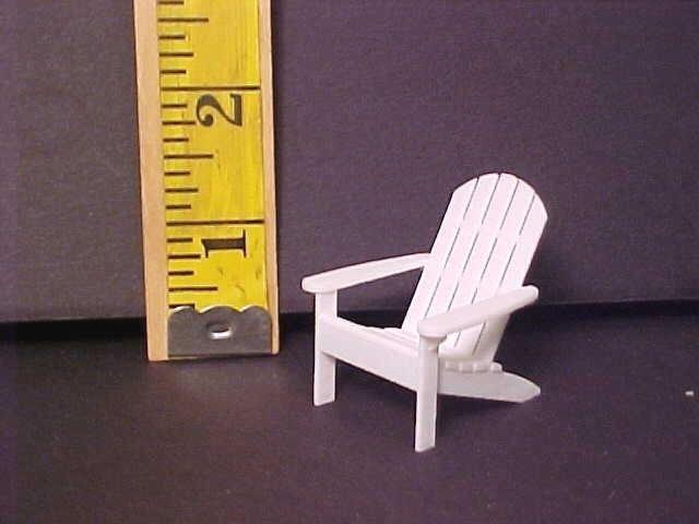 Dollhouse Miniatures 3d Printed Adirondack Beach Chair