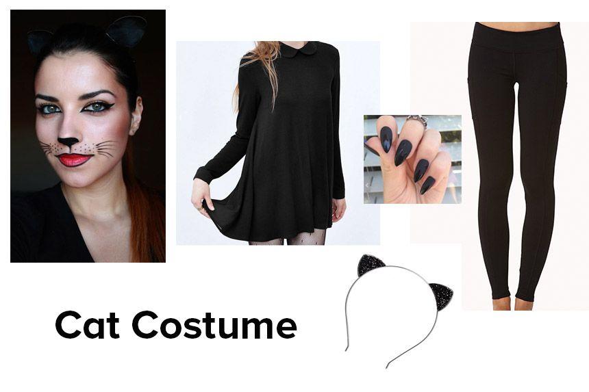 Diy Black Cat Costume Crafthubs Cat Costume Diy Black Cat
