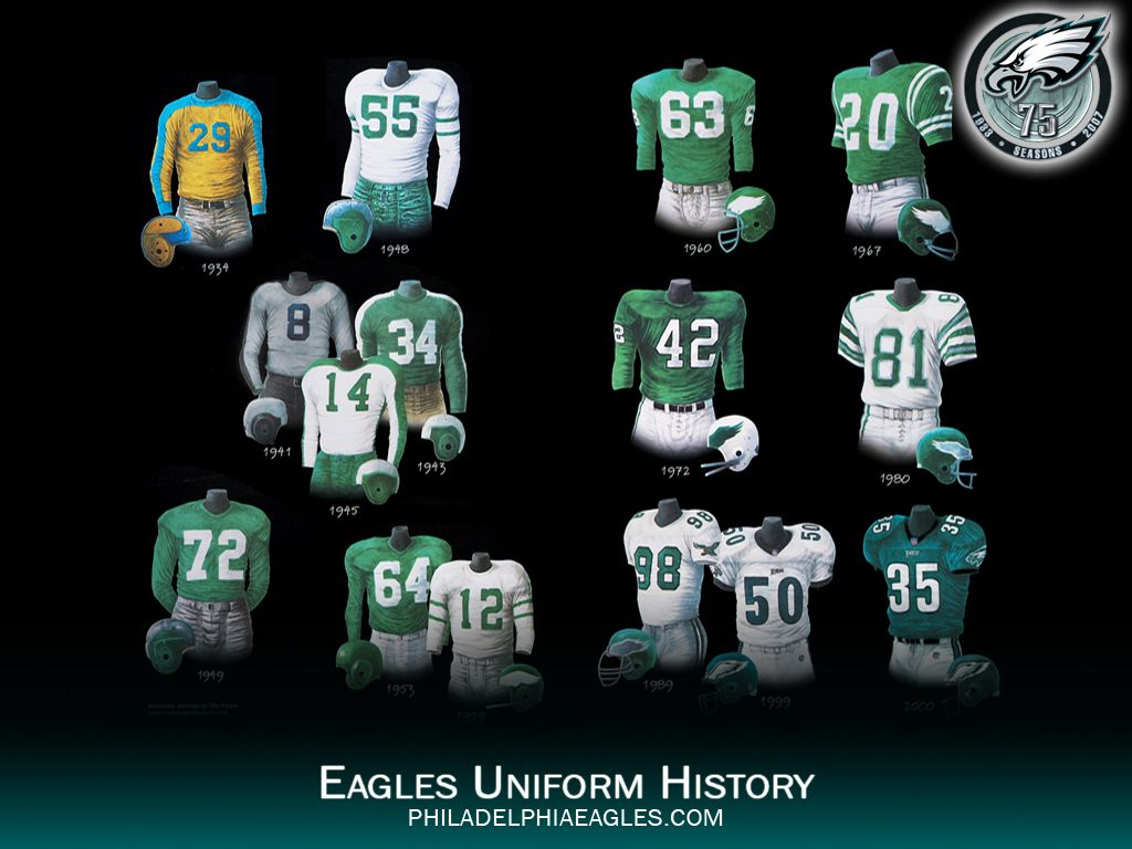 Eagles Uniform History 43