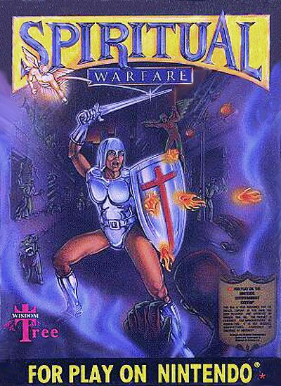 Spiritual Warfare video game on NES. Yes, this actually existed.