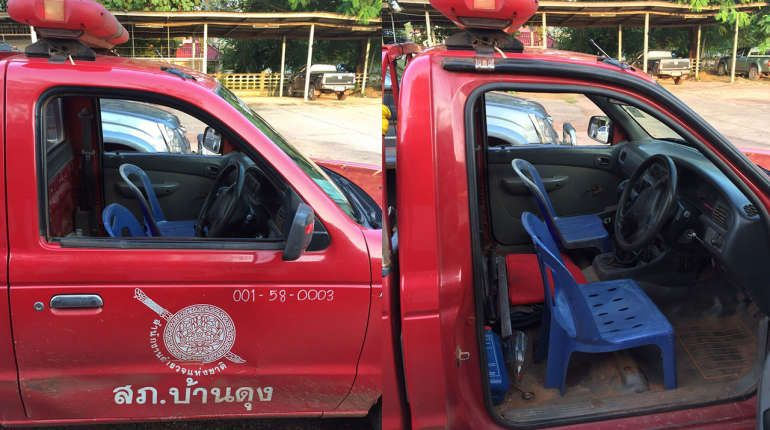 """Thaivisa on Twitter: """"State-of-the-art Thai police patrol car - check out those cool plastic seats! https://t.co/ilnSvwsjRn https://t.co/jUImGaPTms"""""""