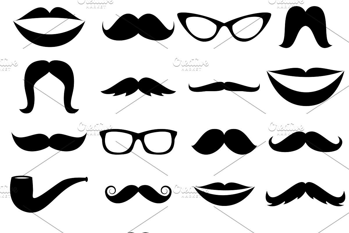 Mustaches Vectors And Clipart Photoshop Brush Set Vintage Photoshop Actions Photoshop Brushes