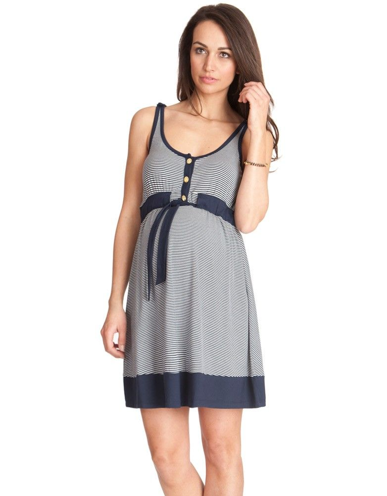 Nautical Striped Maternity Dress | A button, Belt and Jersey dresses