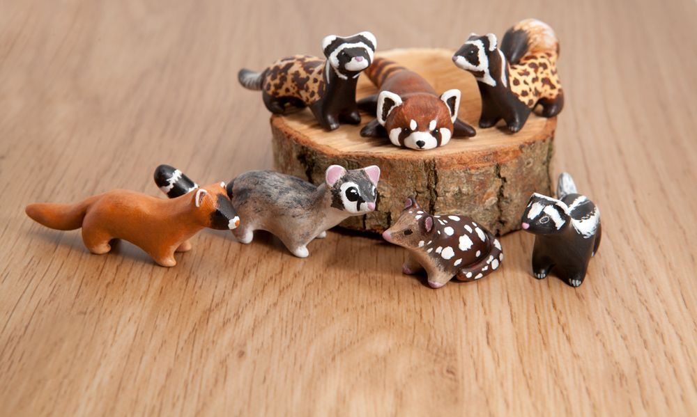 A bunch of polymer clay animal totems by lifedancecreations.deviantart.com on @DeviantArt