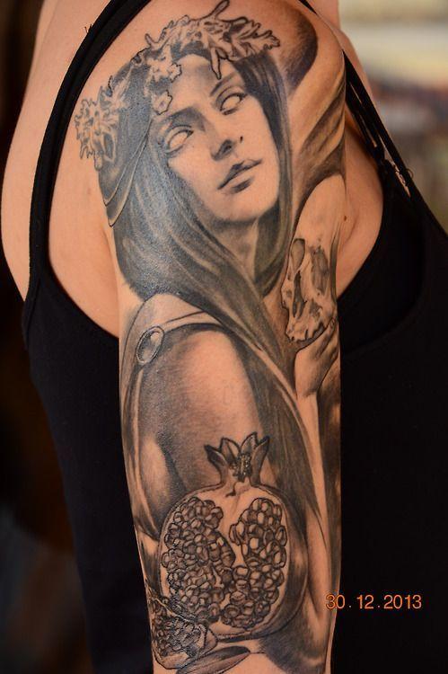 Persephone Tattoo | My Persephone tattoo! It's from greek ...