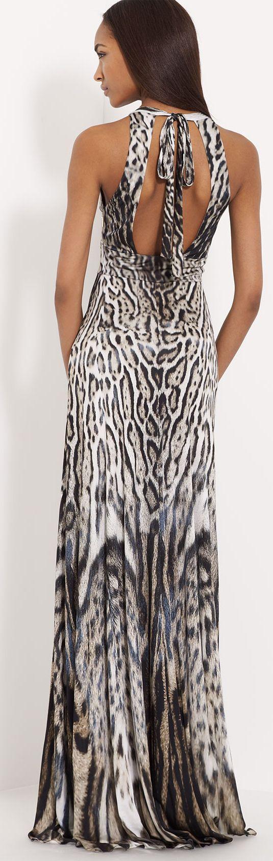Roberto Cavalli Leopard Print Jersey Gown | Animal Prints ...