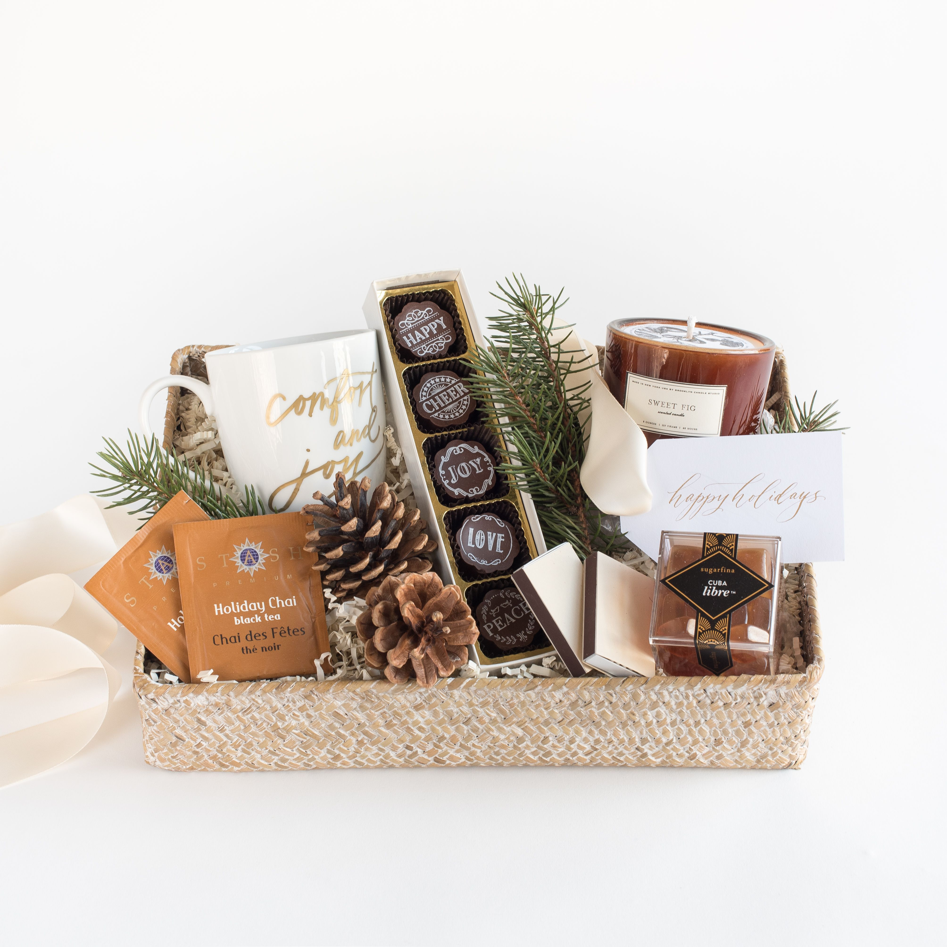 Curated Holiday Gift Box By Marigold Grey The Comfort Joy Is