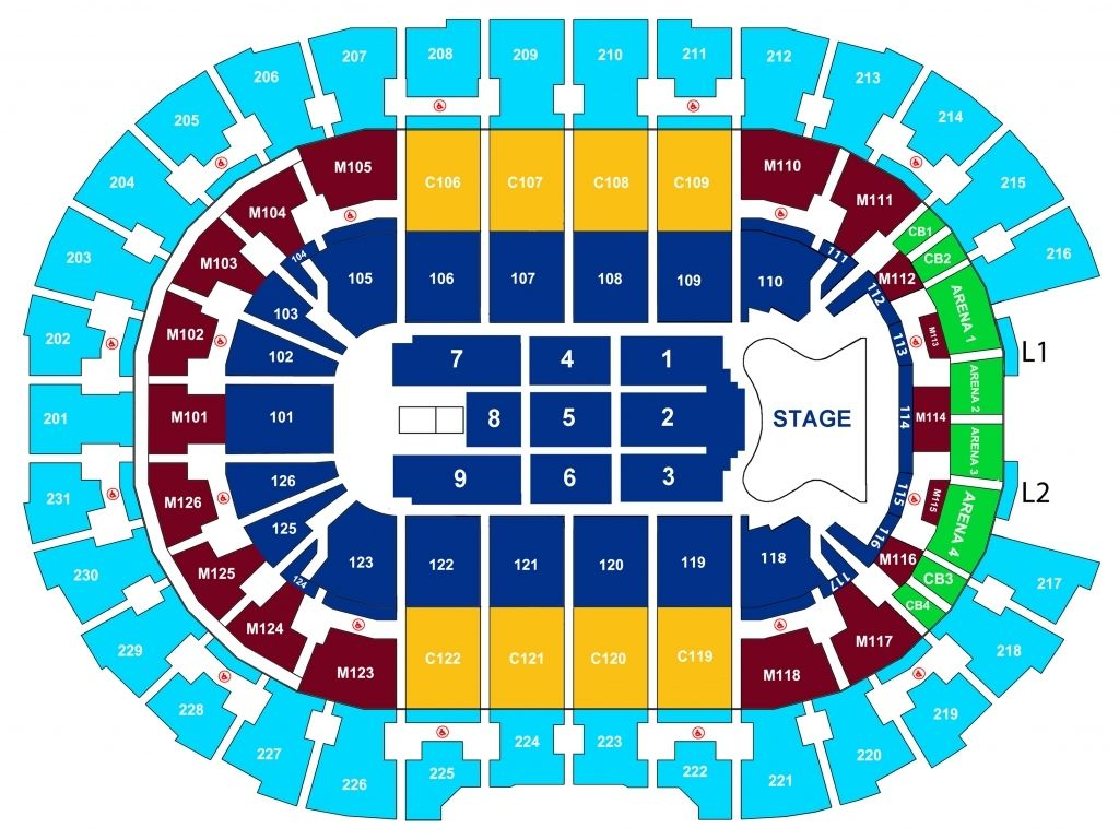 Quicken Loans Arena Seating Chart Seating Charts Quicken Loans Arena Chart