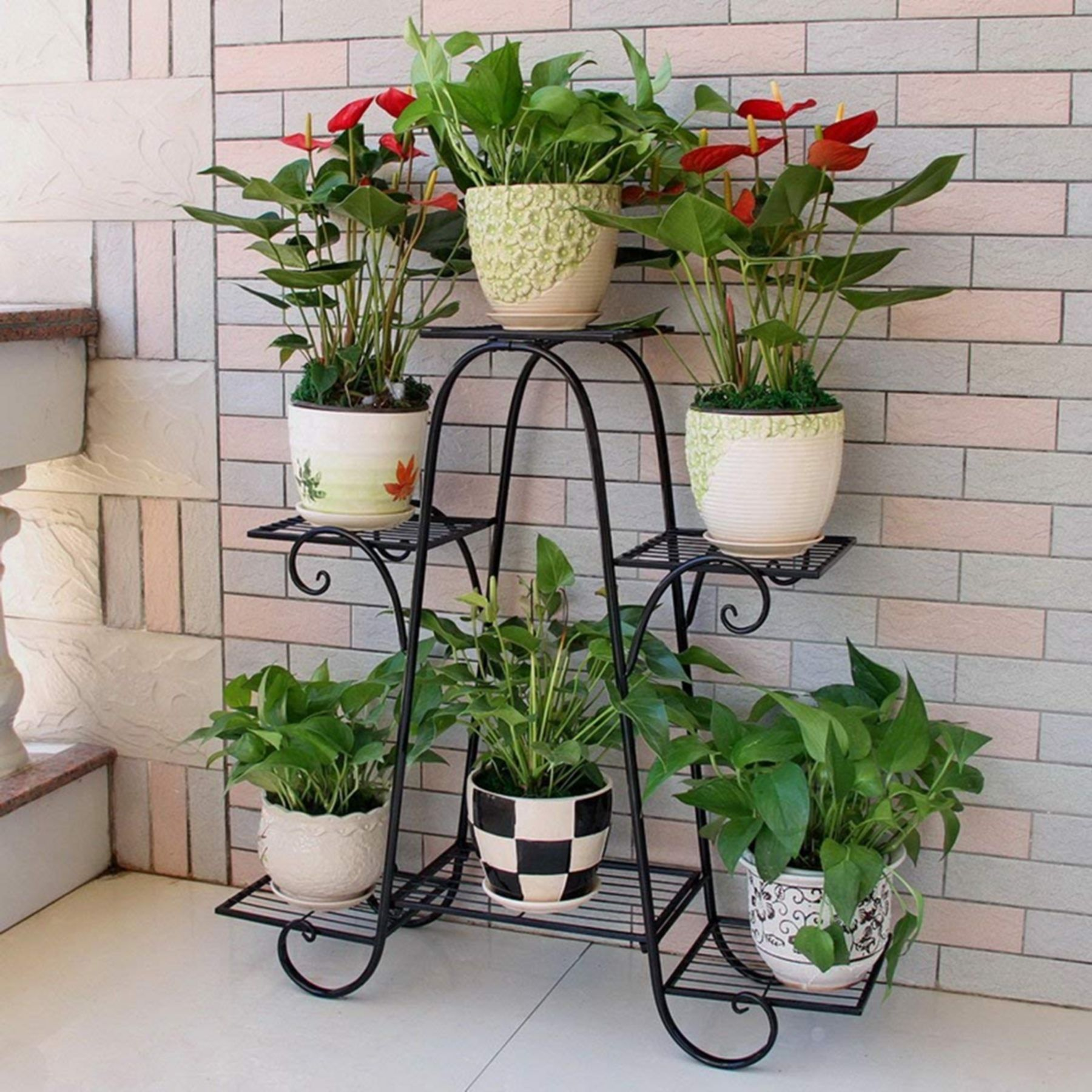 10+ Cheap and Easy Flower Shelf Design Ideas For Your Home ... on Iron Stand Ideas  id=92331