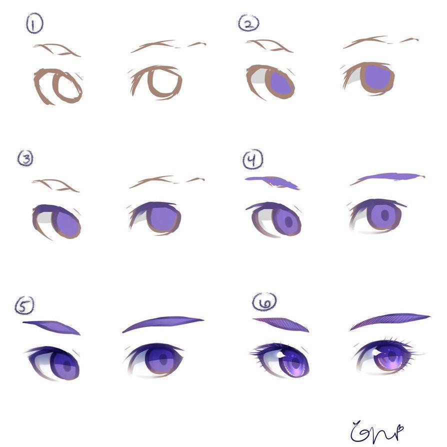 how i color draw my eyes enjoy what i use wacom intuos 4 clip