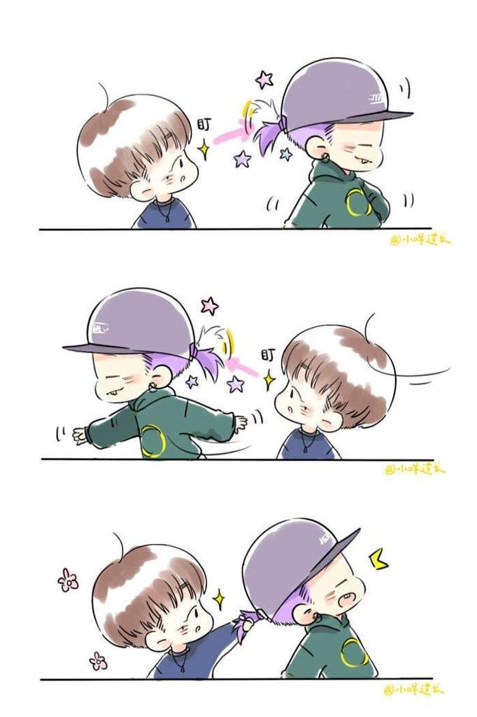 New Funny Ilustrations  #iKON cute fanart #BOBBY #Jinhwan 3