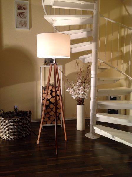 Great Stehlampe Eiche Bauhaus Stil Lampe von Loft Light auf DaWanda