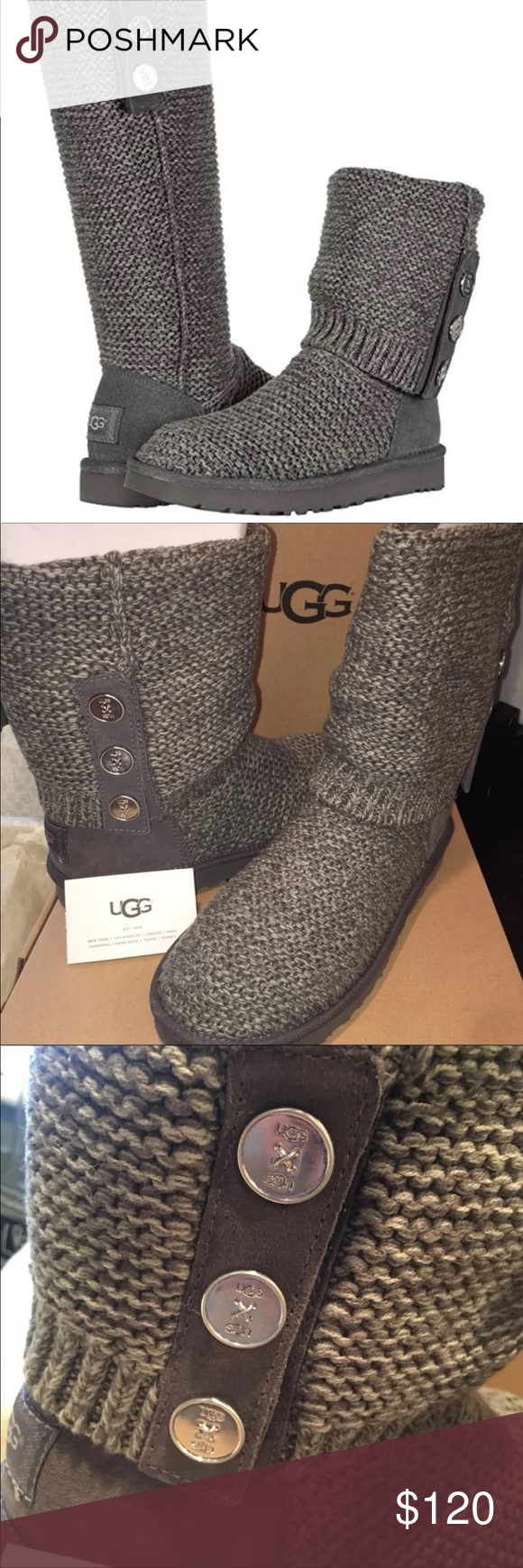 4a7b0f9af6d New in Box UGG Purl Cardy Knit Boots Brand new in box UGG Australia ...