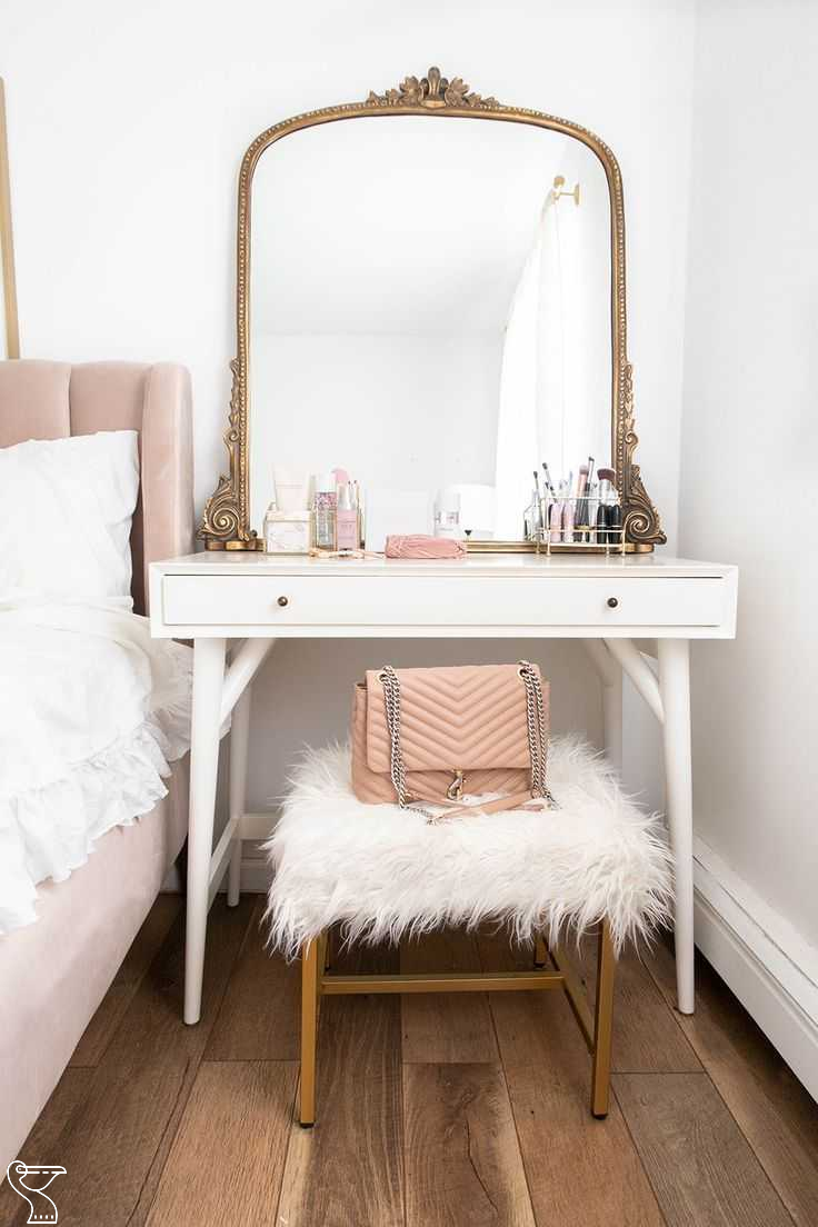 Diy Vanity Ikea Dupe Under 100 205552 Makeup Organization Ideas Makeuporganizationideas Step By Step In 2020 White Room Decor Vanity Inspiration Gold Bedroom