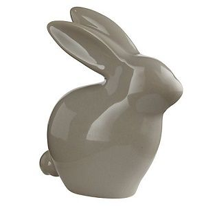 Leonardo Rabbit Ceramic Ornament, Grey