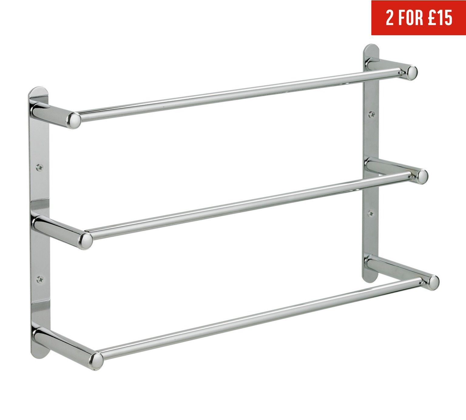 Buy Argos Home 3 Tier Wall Mounted Steel Towel Rack Towel Rails And Rings Argos Towel Rack Wall Mounted Towel Rail Towel Rail