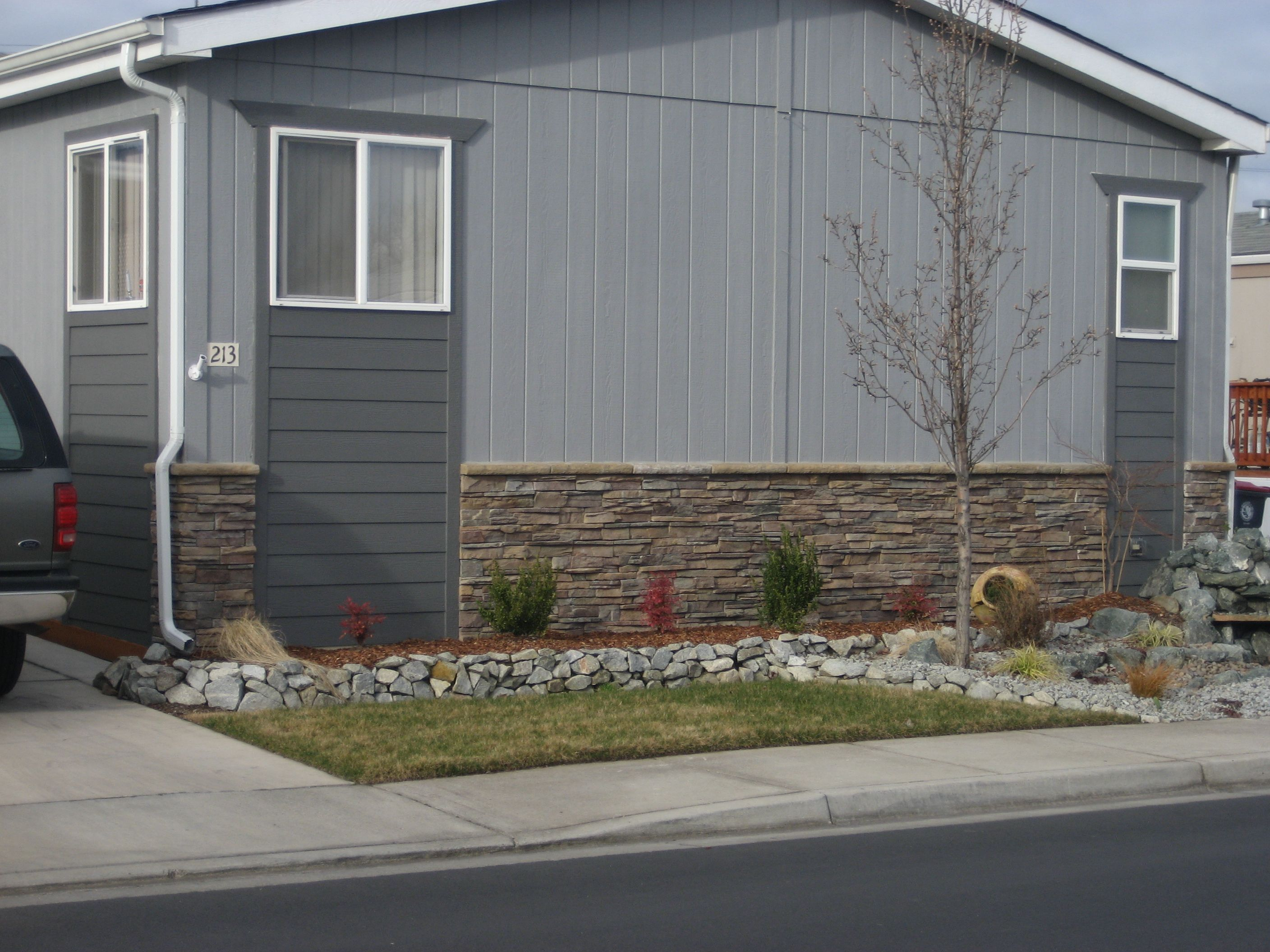 Stone Accents Mobile Home Skirting Mobile Home Exteriors