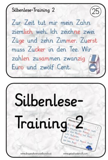 Silbenlese-Training Teil 2